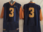 Mens Ncaa Nfl Notre Dame Fighting Irish #3 Montana Dark Blue (2014 New Gold Number) Jersey