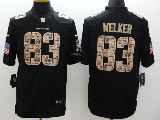 Mens Nfl Denver Broncos #83 Welker Salute To Service Black Limited Jersey