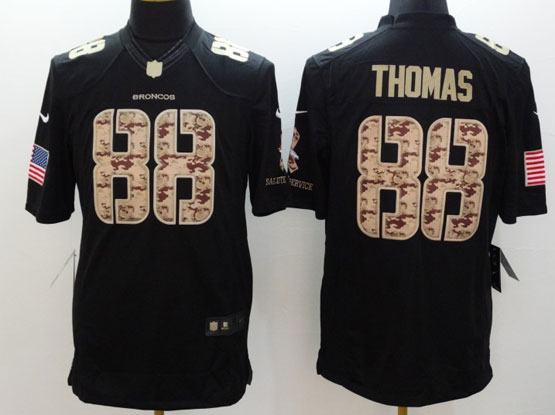 Mens Nfl Denver Broncos #88 Thomas Salute To Service Black Limited Jersey