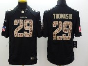 Mens Nfl Seattle Seahawks #29 Thomas Iii Salute To Service Black Limited Jersey