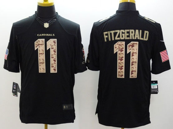 Mens Nfl Arizona Cardinals #11 Larry Fitzgerald Salute To Service Black Limited Jersey