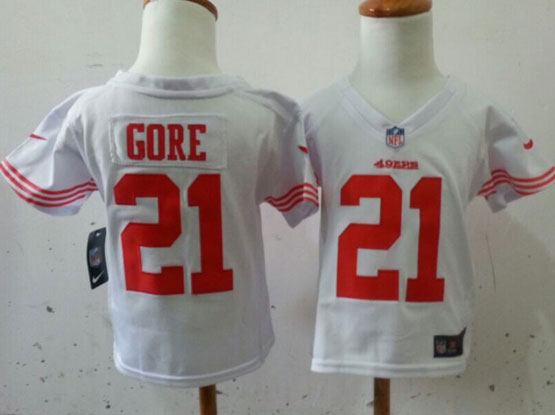 Kids Nfl San Francisco 49ers #21 Gore White Jersey