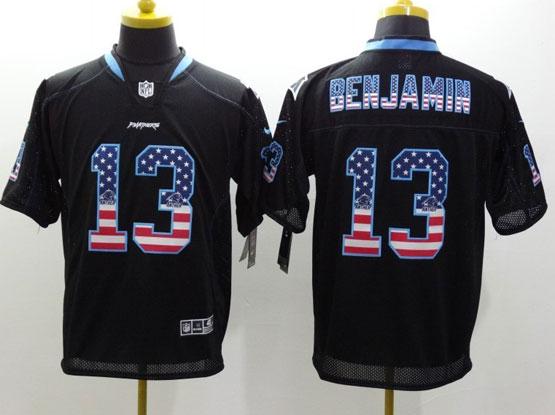 Mens Nfl Carolina Panthers #13 Benjamin Black (2014 Usa Flag Fashion) Elite Jersey