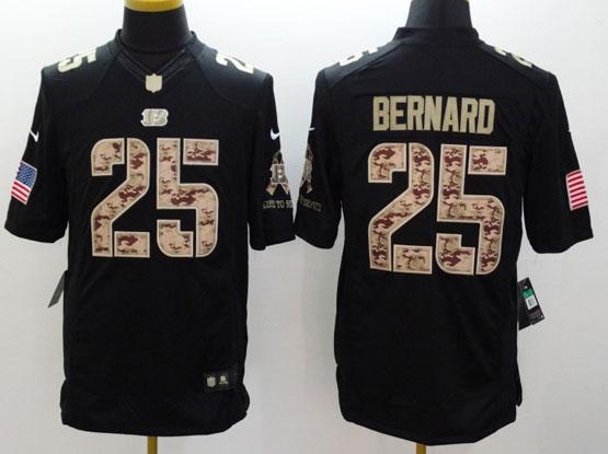 Mens Nfl Cincinnati Bengals #25 Bernard Salute To Service Black Limited Jersey