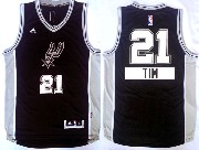 Mens Nba San Antonio Spurs #21 Tim (2014 New Christmas) Black Jersey