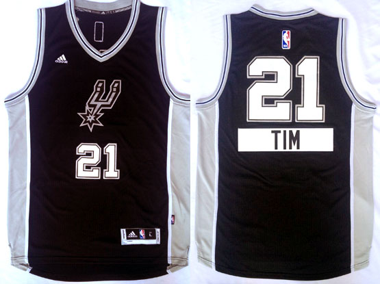 Mens Nba San Antonio Spurs #21 Tim (2014 New Christmas) Black Jersey
