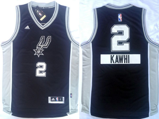 Mens Nba San Antonio Spurs #2 Kawhi (2014 New Christmas) Black Jersey