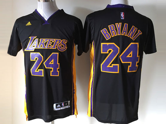 Mens Nba Los Angeles Lakers #24 Bryant Black (short Sleeve) Jersey