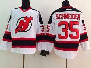 Mens reebok nhl new jersey devils #35 schneider white Jersey