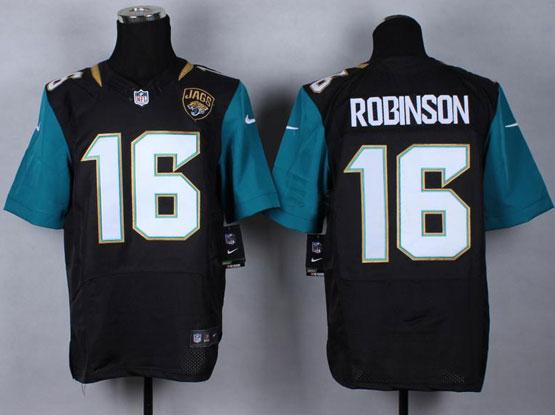 Mens Nfl Jacksonville Jaguars #16 Robinson Black (2013 New) Elite Jersey