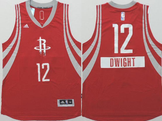 Mens Nba Houston Rockets #12 Dwight (2014 New Christmas) Red Jersey