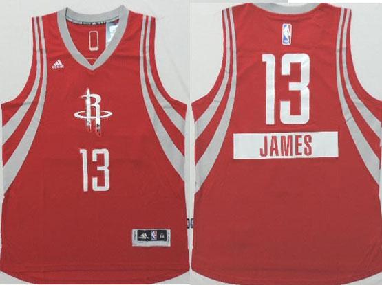 Mens Nba Houston Rockets #13 James (2014 New Christmas) Red Jersey