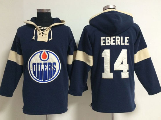 Mens nhl edmonton oilers #14 eberle blue (new single color) hoodie Jersey