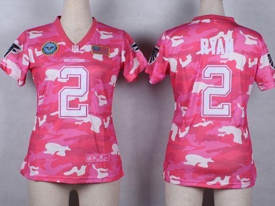 Women  Nfl Atlanta Falcons #2 Ryan Pink Camo Game Jersey