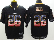 Mens Nfl Pittsburgh Steelers #26 Le'veon Bell Black (usa Flag Fashion) Elite Jersey
