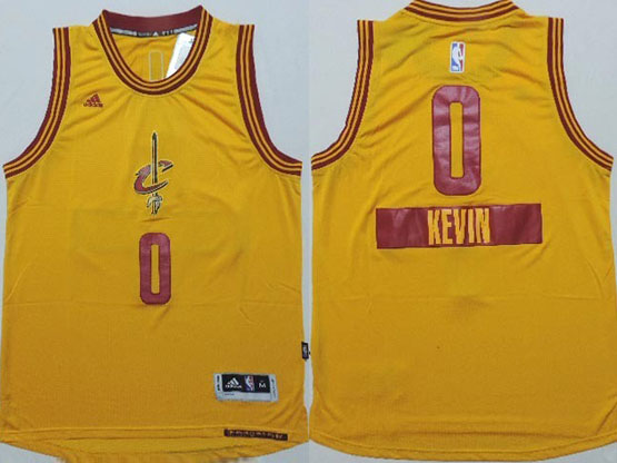 Mens Nba Cleveland Cavaliers #0 Kevin (2014 New Christmas) Yellow Jersey