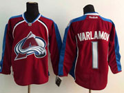Mens reebok nhl colorado avalanche #1 varlamov red Jersey
