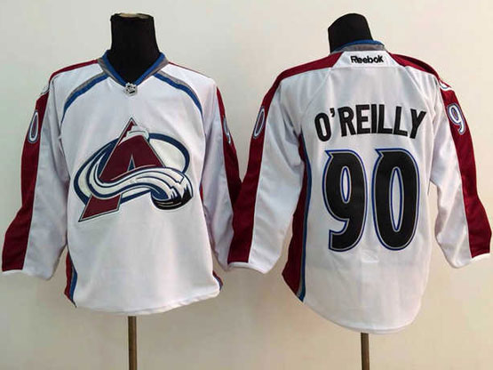 Mens reebok nhl colorado avalanche #90 o'reilly white Jersey