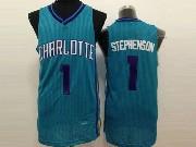 Mens Nba Charlotte Hornets #1 Stephenson Light Blue Jersey (m)