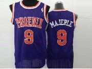 Mens Nba Phoenix Suns #9 Majerle Full Purple (orange Number) Jersey