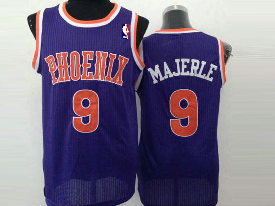 Mens Nba Phoenix Suns #9 Majerle Full Purple (orange Number) Jersey