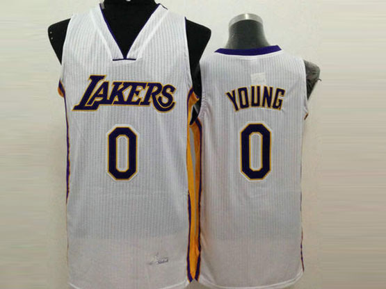 Mens Nba Los Angeles Lakers #0 Young White Jersey
