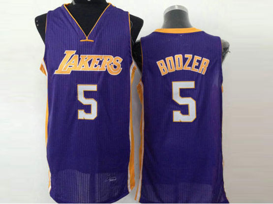 Mens Nba Los Angeles Lakers #5 Boozer Purple Jersey (sn)