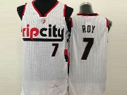 Mens Nba Portland Trail Blazers #7 Roy (ripcity) White Jersesy