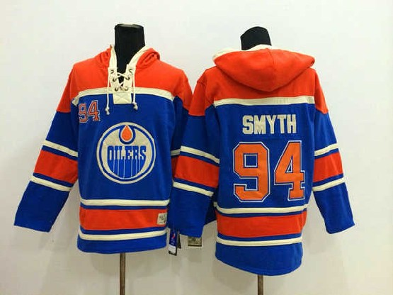Mens nhl edmonton oilers #94 smyth blue hoodie Jersey