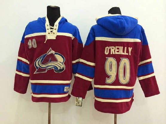 Mens nhl colorado avalanche #90 o'reilly red hoodie Jersey