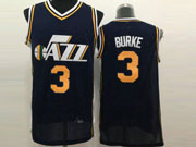 Mens Nba Utah Jazz #3 Burke Dark Blue Jersey