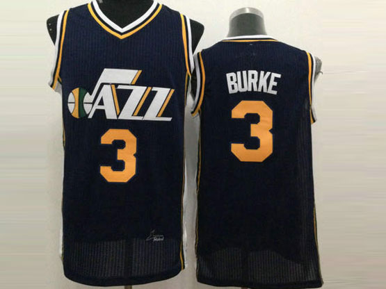 Mens Nba Utah Jazz #3 Burke Dark Blue Jersey
