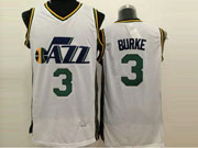 Mens Nba Utah Jazz #3 Burke White Jersey