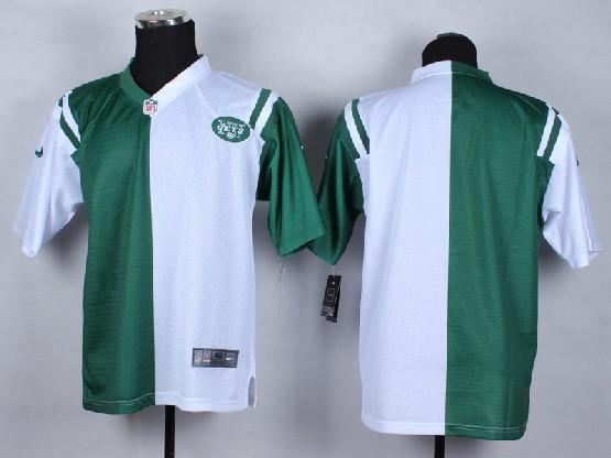 Mens Nfl New York Jets (blank) White&green Split Elite Jersey