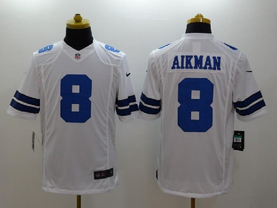 mens nfl Dallas Cowboys #8 Troy Aikman white limited jersey