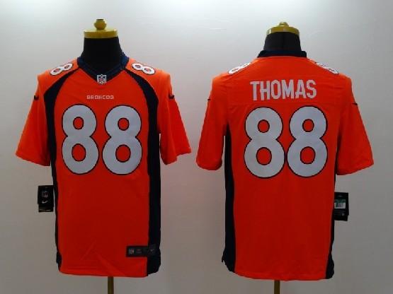 Mens Nfl Denver Broncos #88 Thomas Orange (2014 Game) Jersey