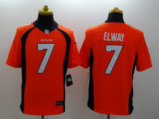 Mens Nfl Denver Broncos #7 Elway Orange (2014 Game) Jersey