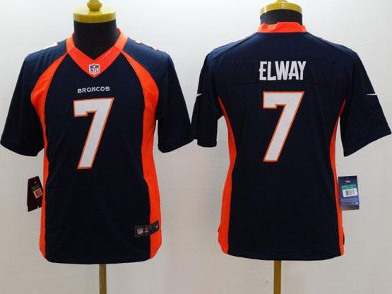 Youth Nfl Denver Broncos #7 Elway Blue (2014 New) Limited Jersey