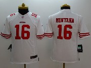 Youth Nfl San Francisco 49ers #16 Montana White Limited Jersey