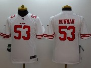 youth nfl San Francisco 49ers #53 NaVorro Bowman white limited jersey