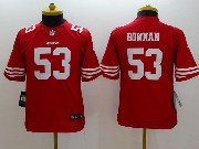 youth nfl San Francisco 49ers #53 NaVorro Bowman red limited jersey