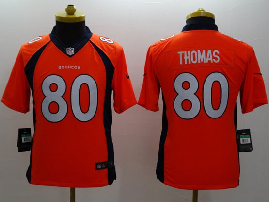 Youth Nfl Denver Broncos #80 Thomas Orange (2014 New) Limited Jersey