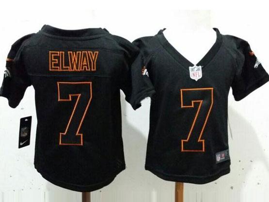 Kids Nfl Denver Broncos #7 Elway Black Jersey