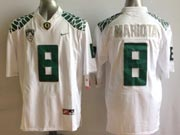 Mens Ncaa Nfl Oregon Ducks #8 Mariota White Mach Speed (2014 New) Limited Jersey