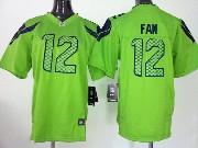 Youth Nfl Seattle Seahawks #12 Fan Green Game Jersey