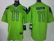 Youth Nfl Seattle Seahawks #11 Harvin Green Game Jersey