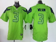 Youth Nfl Seattle Seahawks #3 Wilson Green Game Jersey