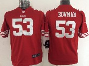 youth nfl San Francisco 49ers #53 NaVorro Bowman red game jersey