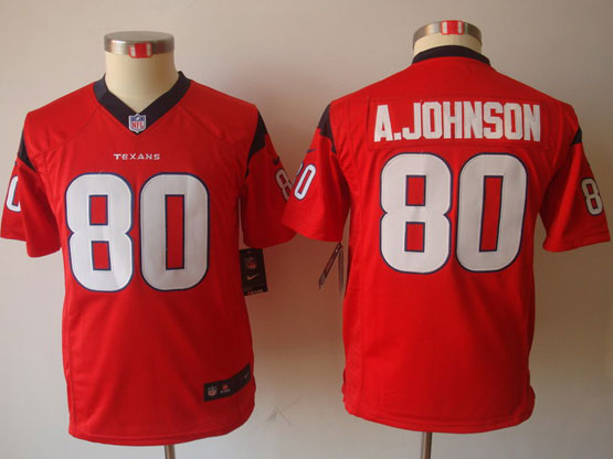 Youth Nfl Houston Texans #80 A.johnson Red Game Jersey