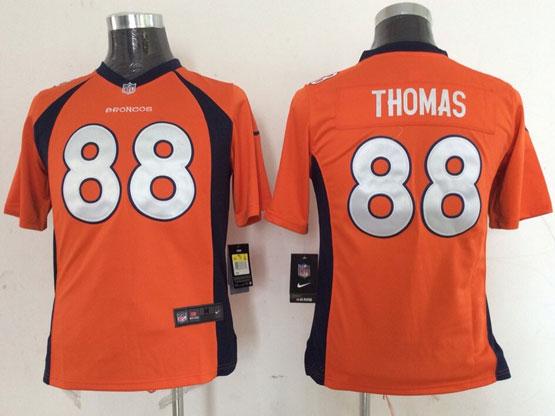 Youth Nfl Denver Broncos #88 Thomas Orange (2014 New) Game Jersey